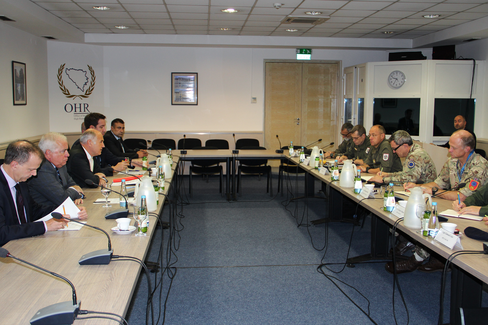 HR Inzko meets EUFOR delegation | Office of the High Representative