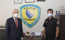 PDHR/Brčko Supervisor Scanlan meets Brčko Chief of Police Goran Pisić (OHR archive)